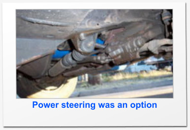 Power steering was an option